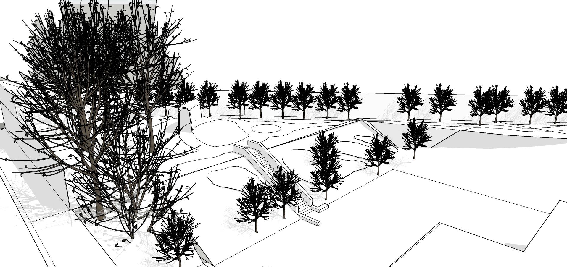 Croquis de recherche pour le jardin de tinctoriales de Whole . conception: Lili Garden